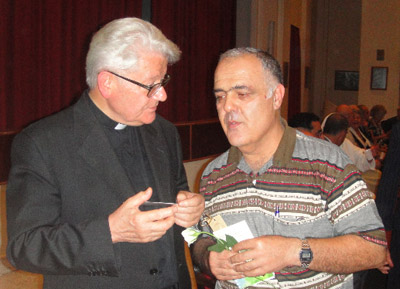 Msgr. Giuseppe Ghiberti and Far�s Melki Meet in Beirut, Lebanon