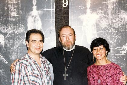 The Reverend Albert R. 'Kim' Dreisbach, Jr. with Dr. Julio and Elsy Lopez