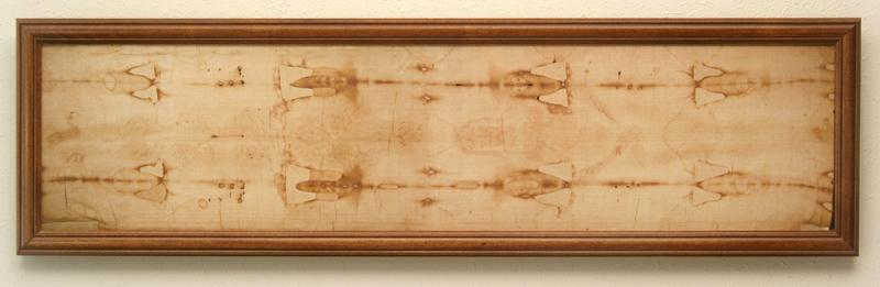 Framed Miniature Shroud Replica - Click on the image for more information.
