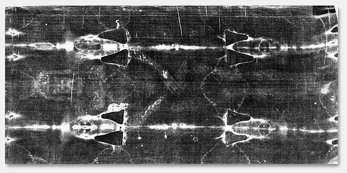 Shroud of Turin Ventral Image © 1978 Barrie M. Schwortz Collection, STERA, Inc. All Rights Reserved - SCROLL DOWN FOR MENU